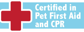 We are Certified in Pet First Aid and CPR